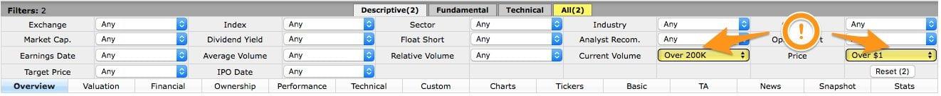Descriptive options
