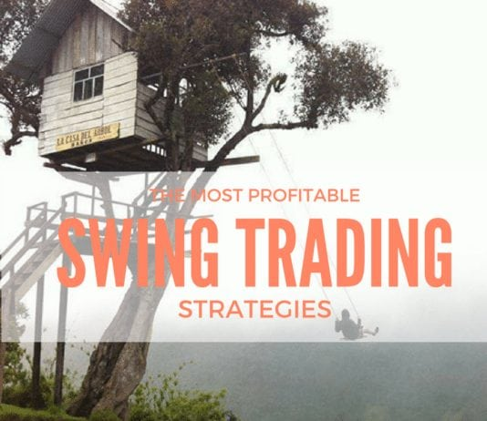 a man swinging and trading