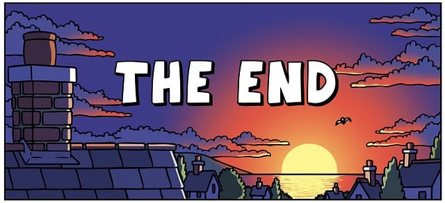 the end cartoon