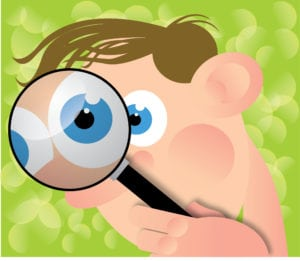 a man spying