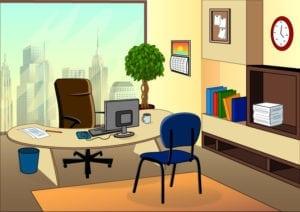 a cool office set up