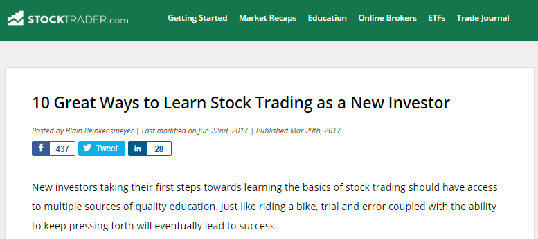 image from stock trader website