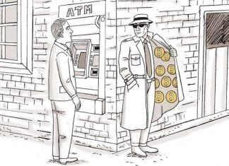 picture of a guy hustling bitcoins