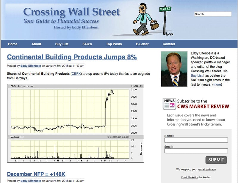 crossing wall street