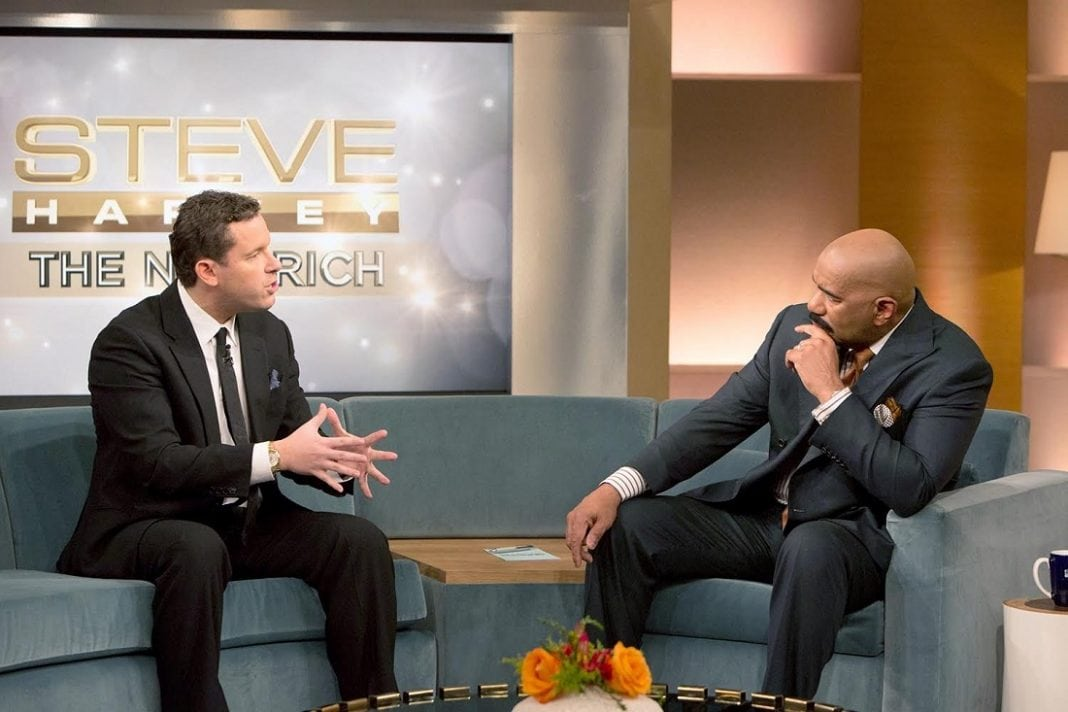 picture of tim sykes at steve harvey show