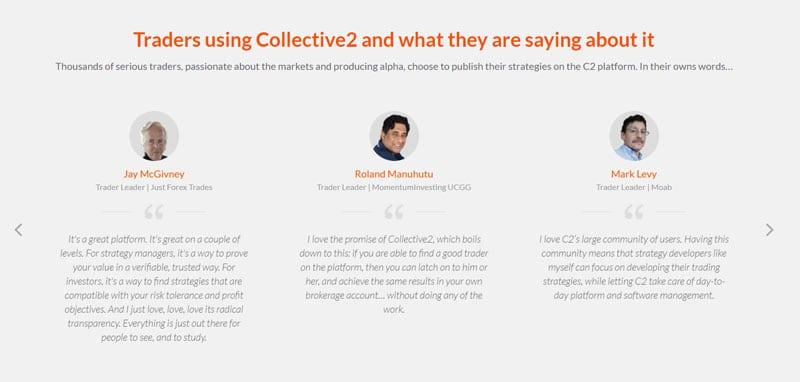 Collective2 trader reviews