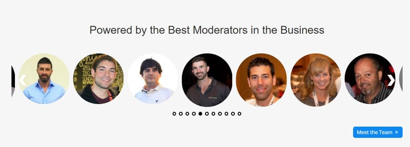 Investors Underground chat room moderators