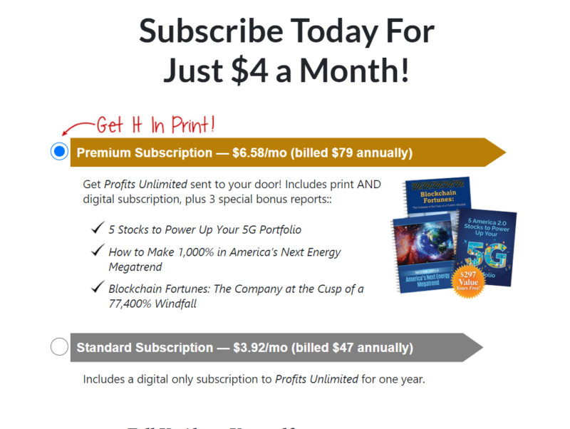 profits unlimited subscribe